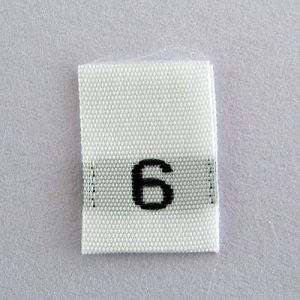 Size 6 Size Tags