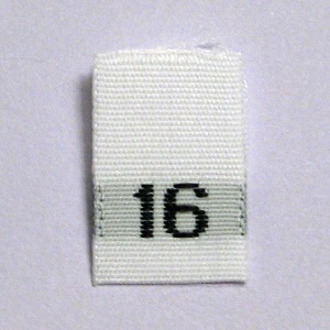 Size 16 Size Tags