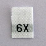 Size 6X Size Tags