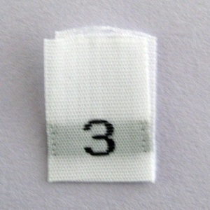 Size 3 Size Tags