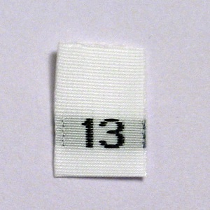Size 13 Size Tags