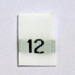 Size 12 Size Tags