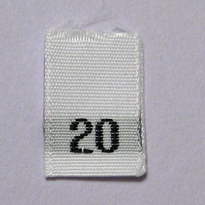 Size 20 Size Tags