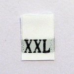 Extra Extra Large Size Tags