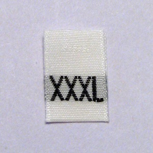 Extra Extra Extra Large Size Tags