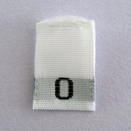 Size 0 Size Tags